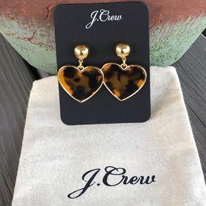 J. Crew Heart Drop Tortoise Earrings!